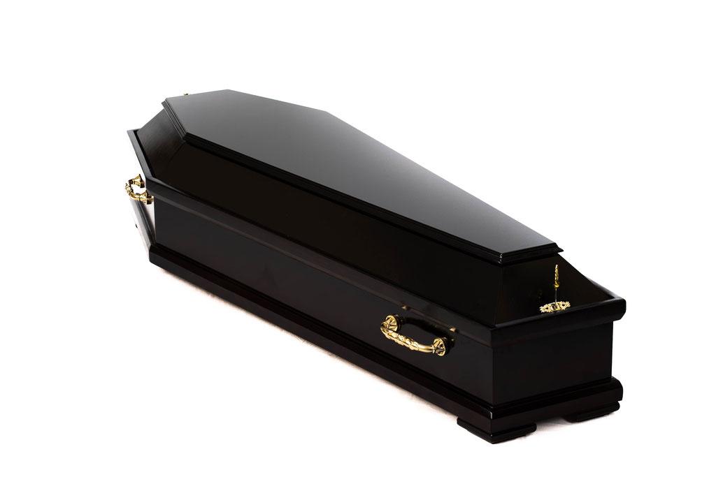 """Гроб лакированный """"Эко тёмный"""""""