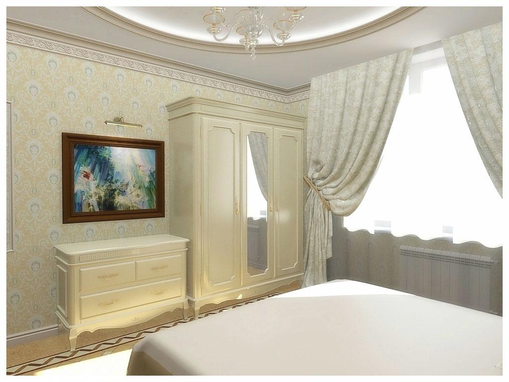 Дизайн интерьеров квартир. Спальня, вид 1.