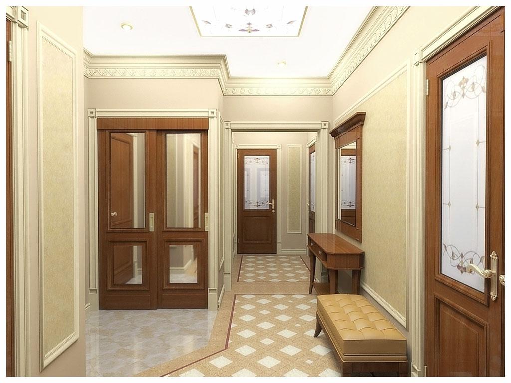 Дизайн интерьеров квартир. Холл, вид 1.