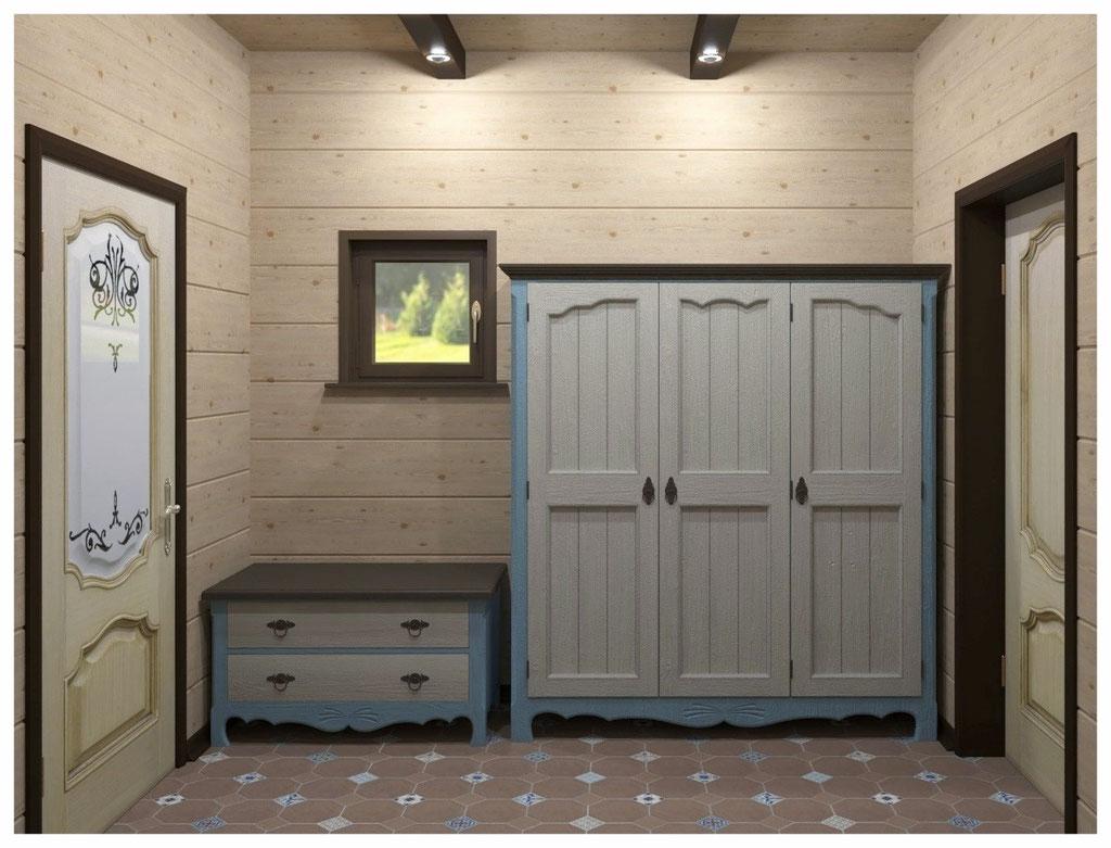 Визуализация интерьера коридора