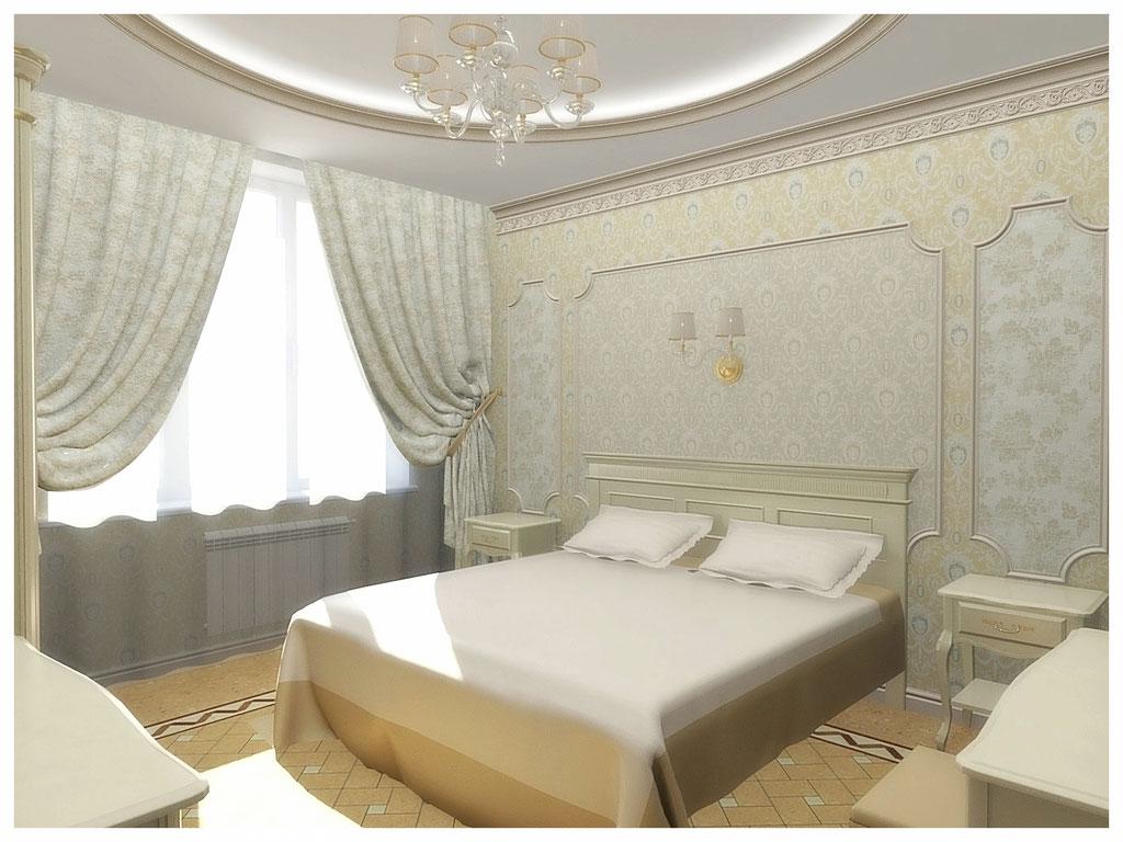 Дизайн интерьеров квартир. Спальня, вид 2.