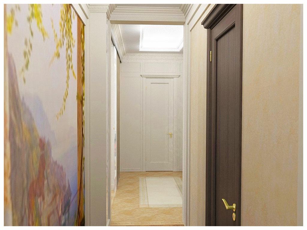 Дизайн интерьеров квартиры в эклектике. Коридор 2.