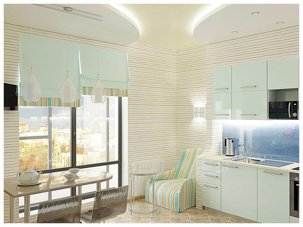Дизайн интерьера кухни. Вид 1