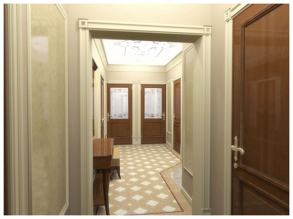 Дизайн интерьеров квартир. Холл, вид 2.