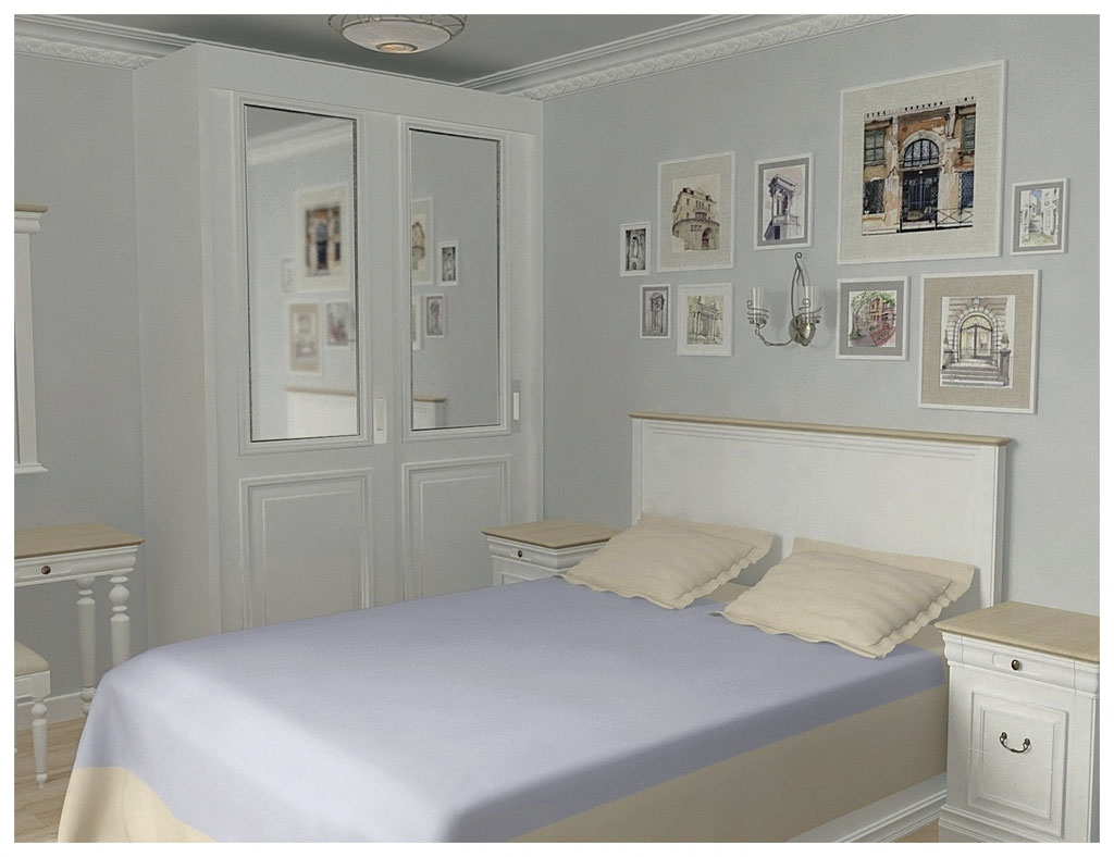 Дизайн интерьеров однокомнатной квартиры. Спальня.