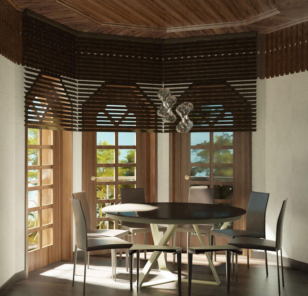 Дизайн интерьера мансардного этажа. Вид 2