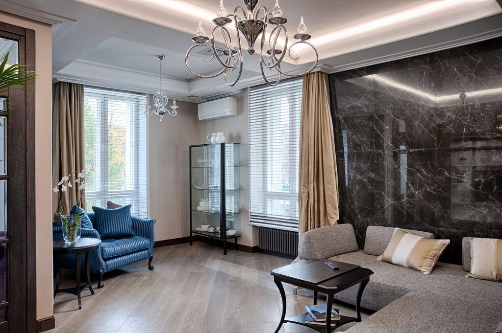 Дизайн интерьера гостиной. Вид 2