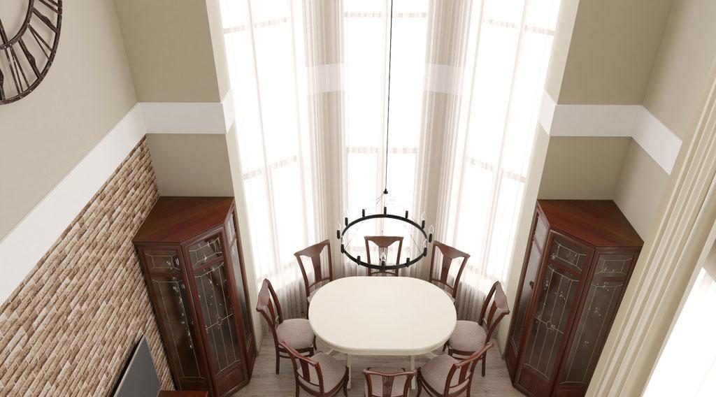 Дизайн интерьеров коттеджа со вторым светом