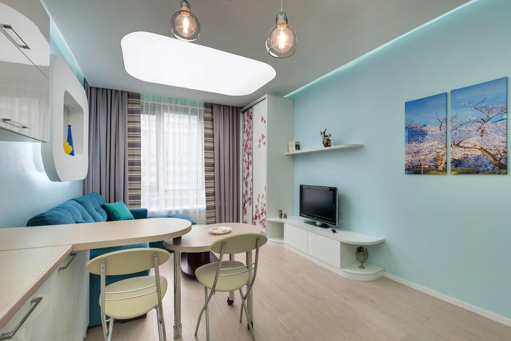 Дизайн интерьеров квартиры-студии, вид 2