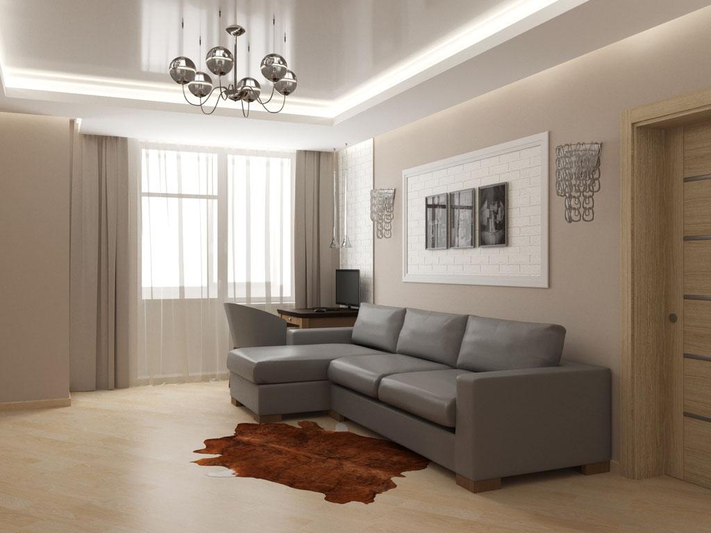 Визуализация окна в интерьере гостиной