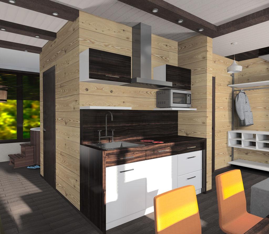 Визуализация интерьера кухни