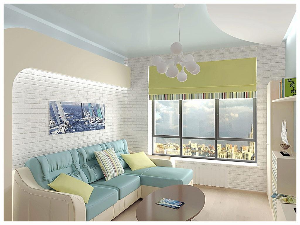 Дизайн интерьера гостиной. Вид 1