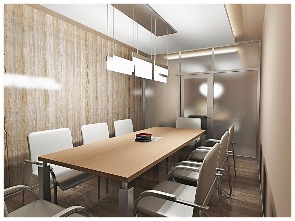 Дизайн интерьеров офиса. Комната переговоров 1.