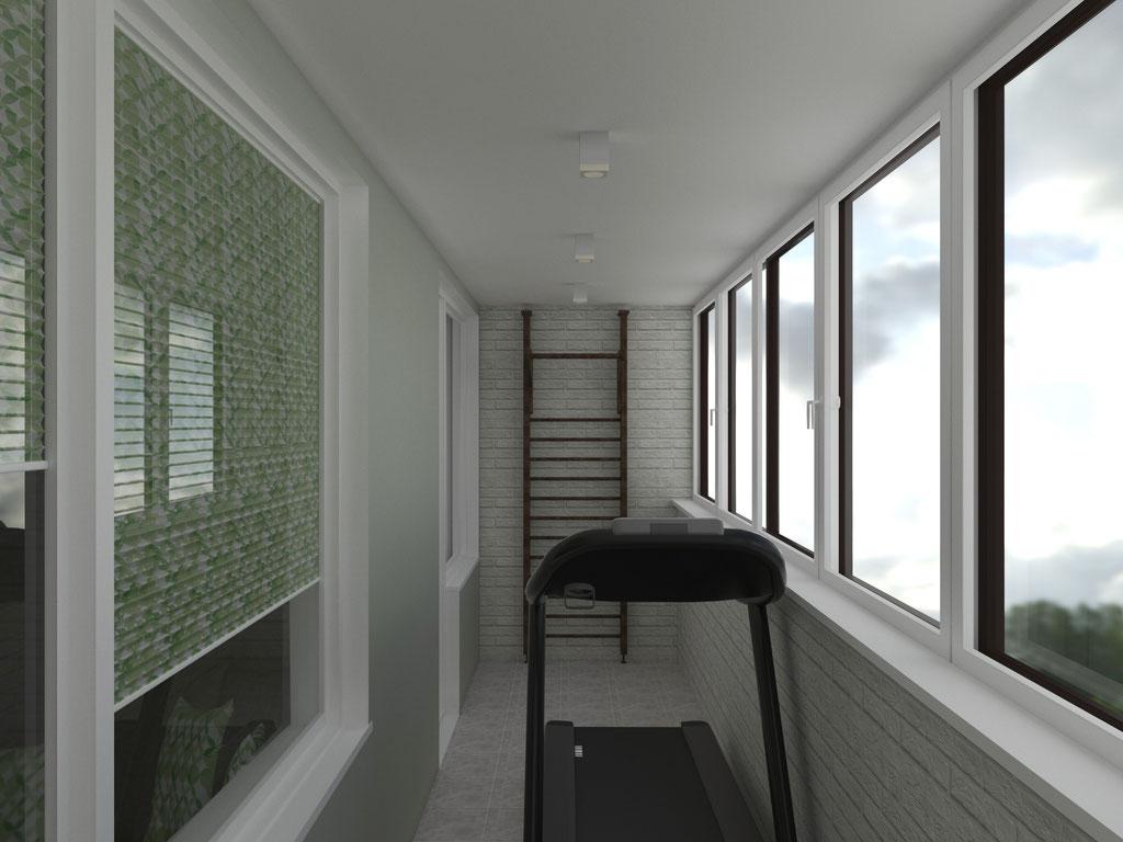 Дизайн интерьера лоджии. Вид 2