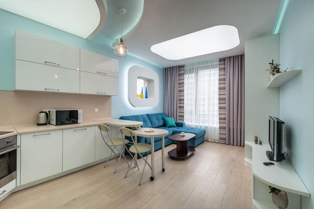Дизайн интерьеров квартиры-студии, вид 1