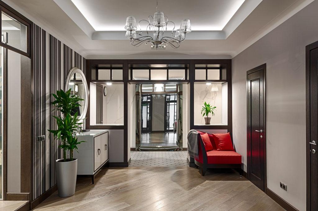 Дизайн интерьера холла. Вид 1