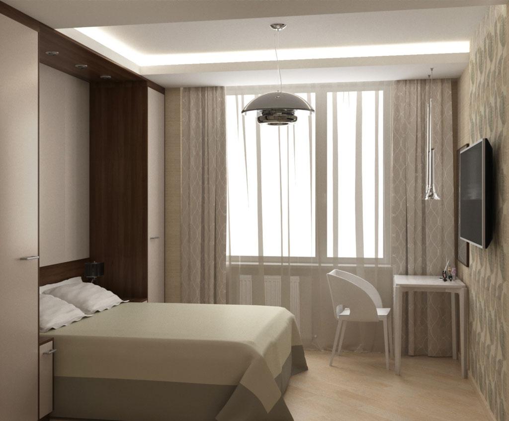 Визуализация окна в интерьере спальни