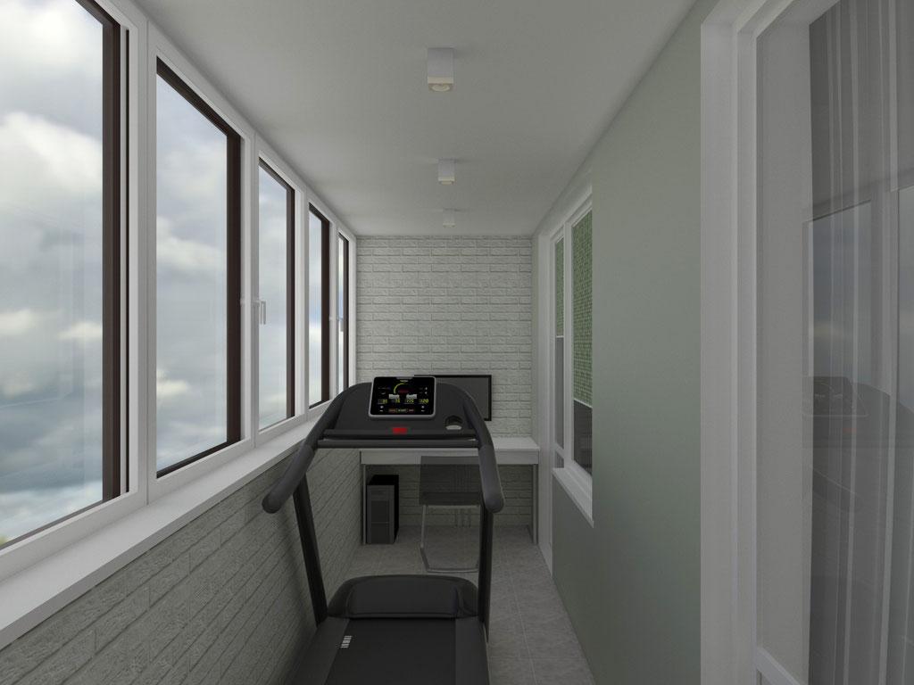 Дизайн интерьера лоджии. Вид 1