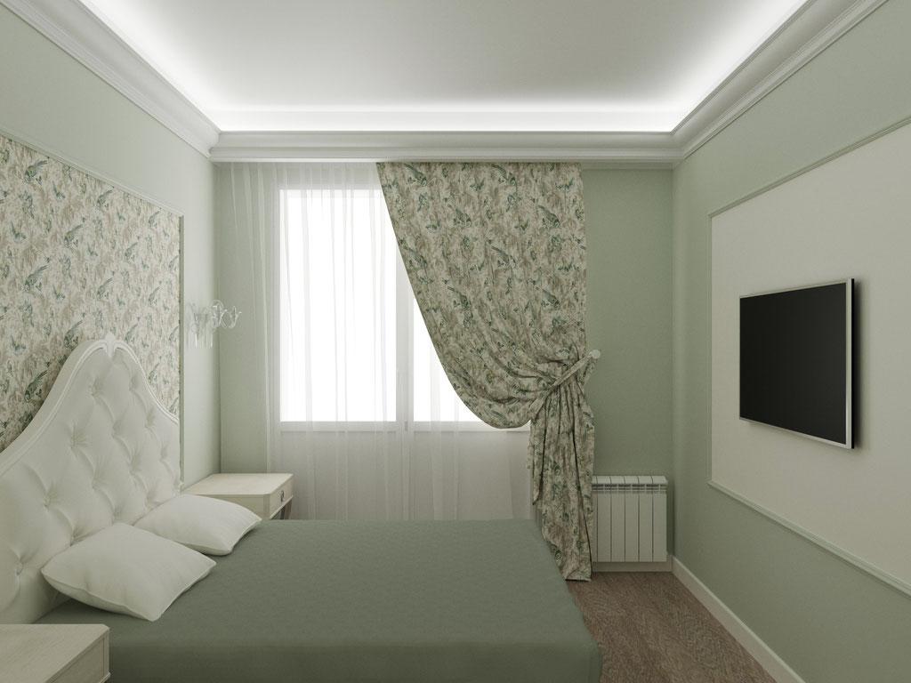 Дизайн интерьера спальни. Вид 1
