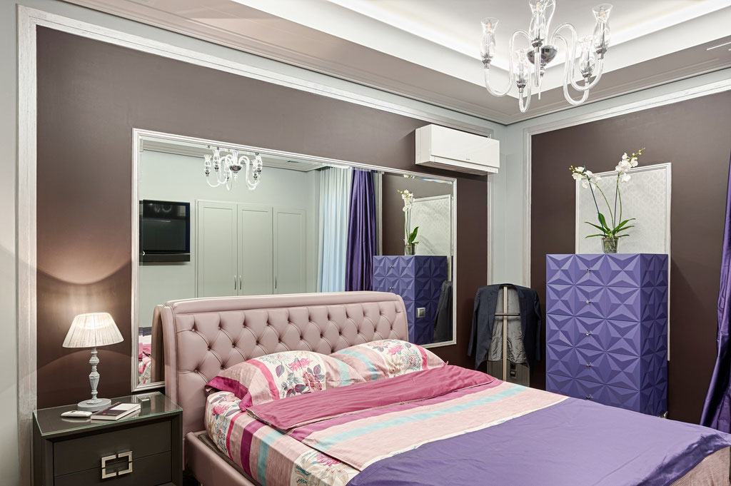 Дизайн интерьера малой спальни. Вид 1
