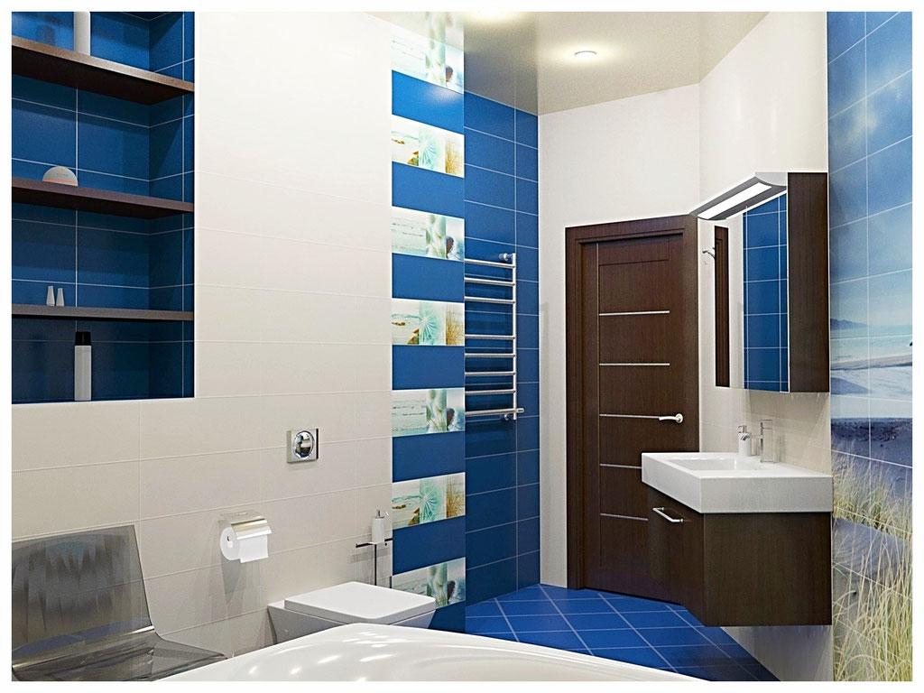 Дизайн интерьеров дома. Санузел второго этажа.