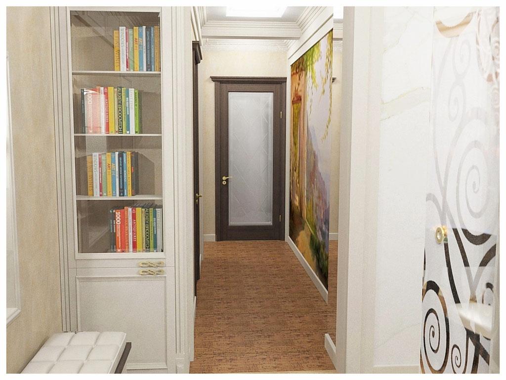 Дизайн интерьеров квартиры в эклектике. Коридор 1.