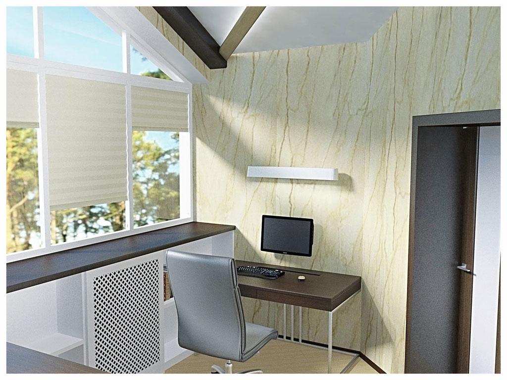 Дизайн интерьеров дома. Кабинет.