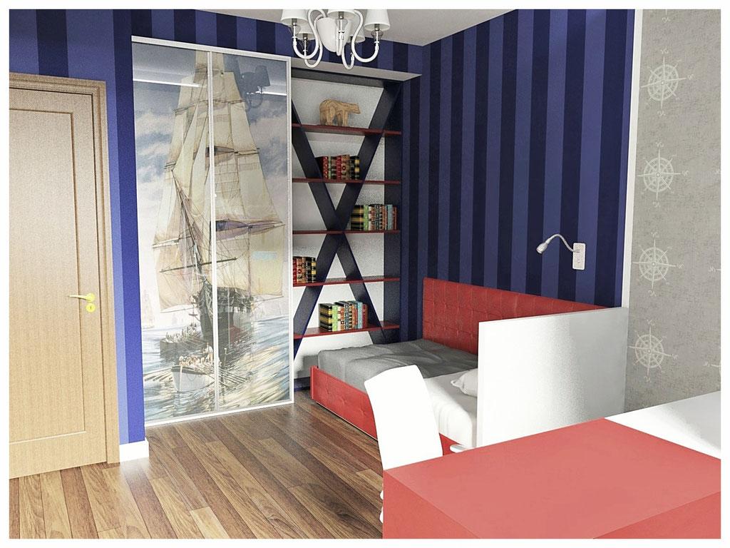 Дизайн интерьеров квартиры в эклектике. Детская 2.