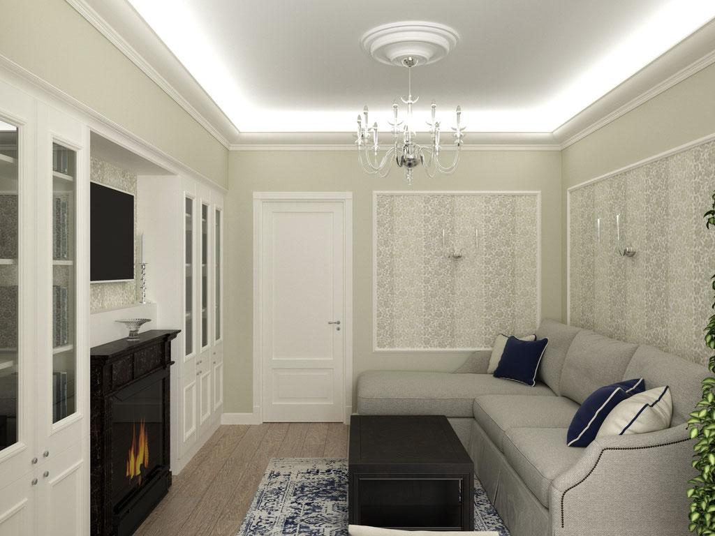 Дизайн интерьера гостиной. Вид 3