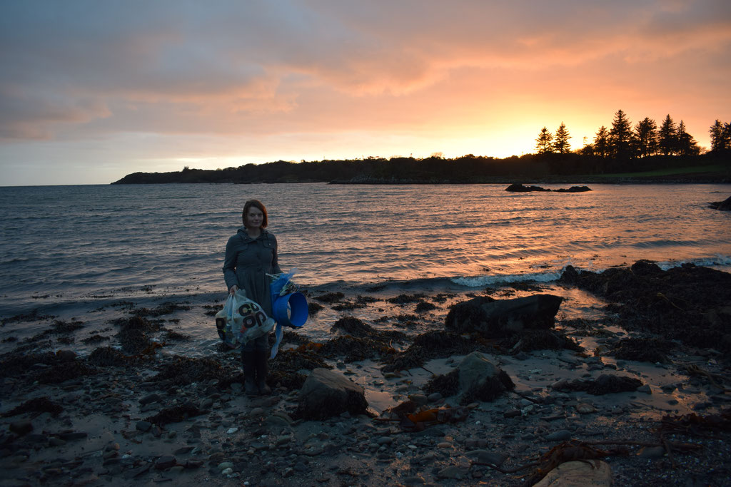 sunset beach clean Islay, Scotland