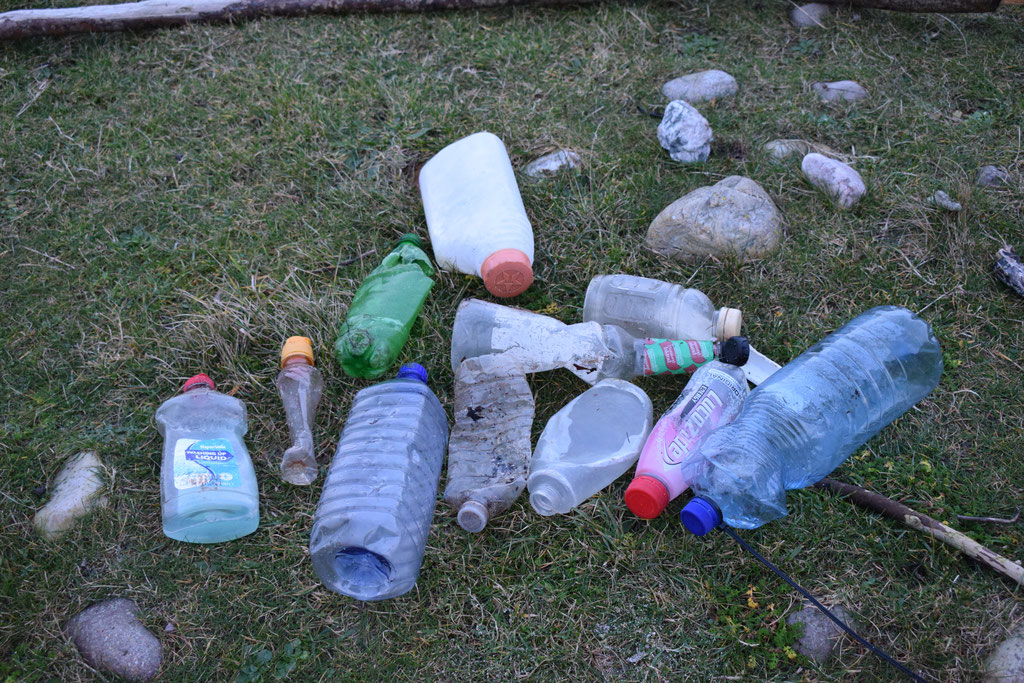bottle beach clean Islay, Scotland