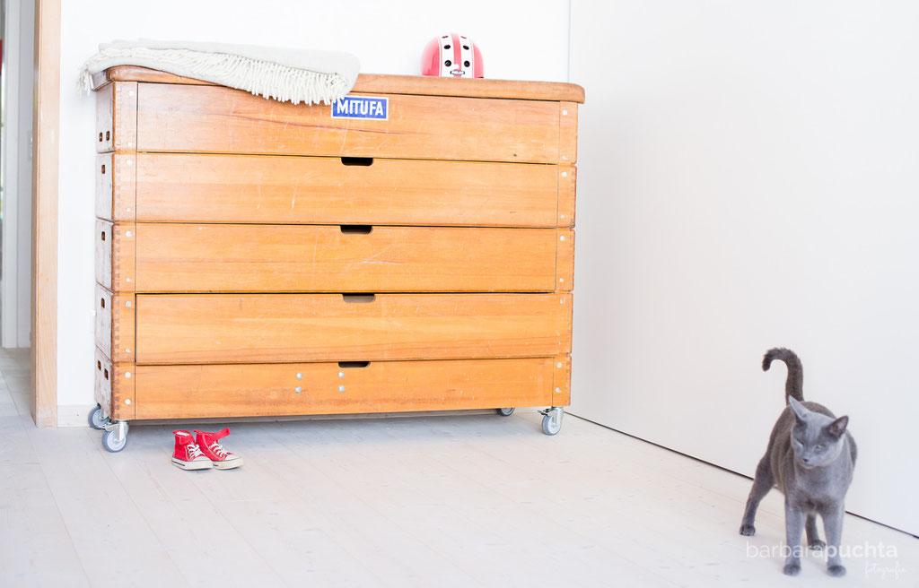Große Schubladenkommode - Stauraum ohne Ende! - Möbel aus Turngeräten