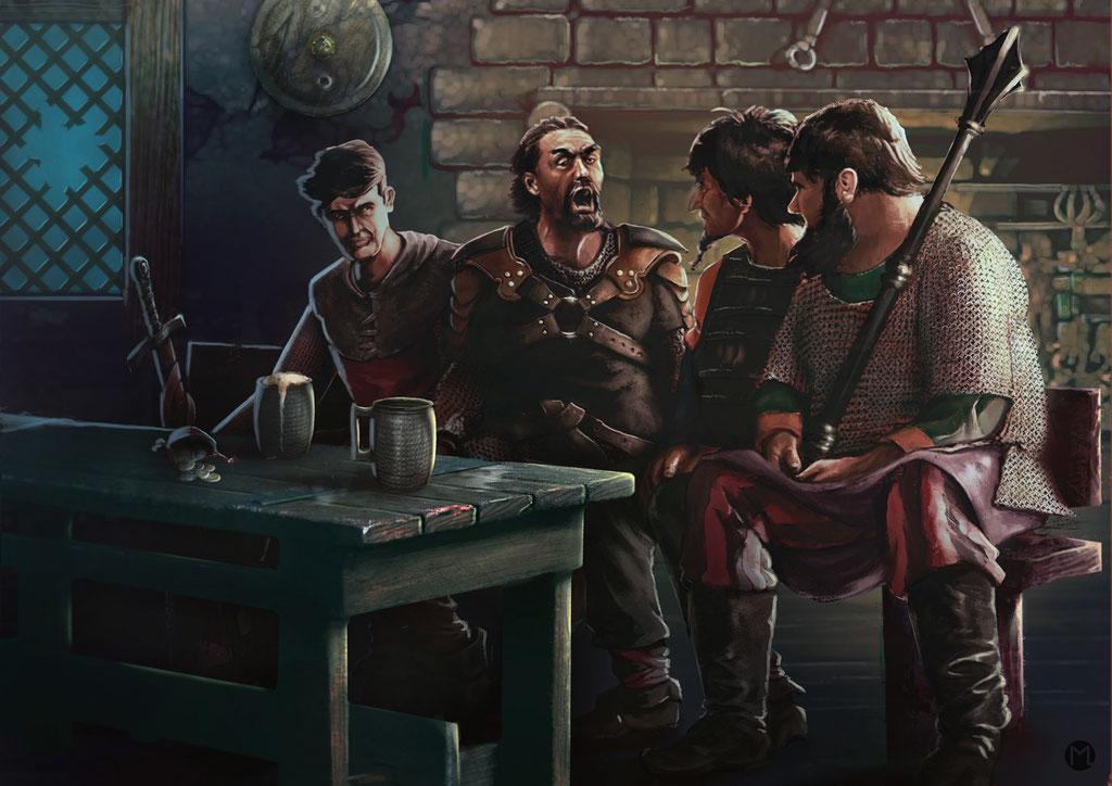 Concept Art - Illustration - Männerabend