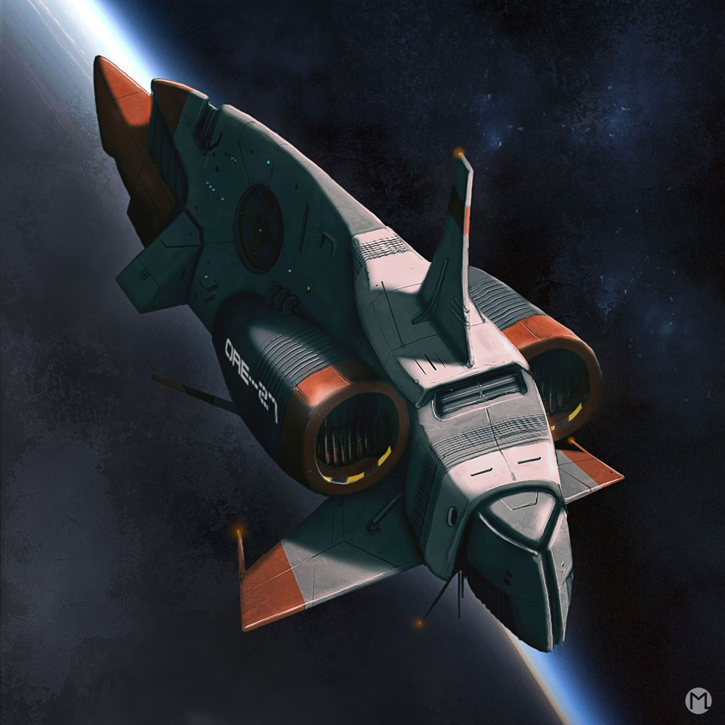 Artwork - Illustration - Spaceship - Civil Aircraft ORE-27