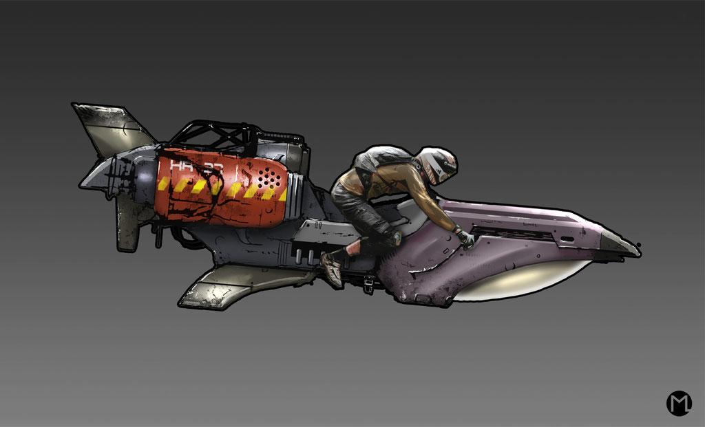 Artwork - Illustration - Vehicle - Bike XR37