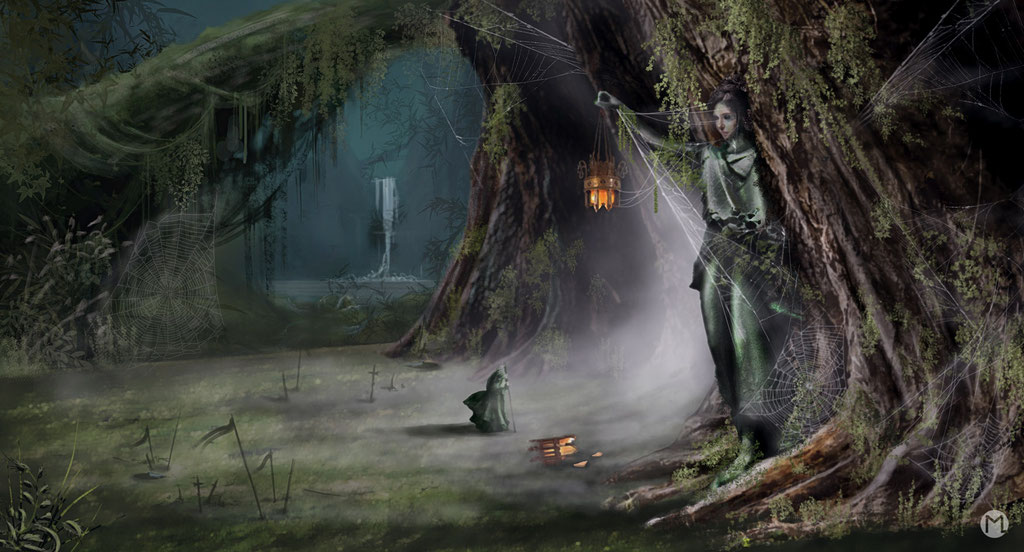 Concept Art - Illustration - Magischer Wald