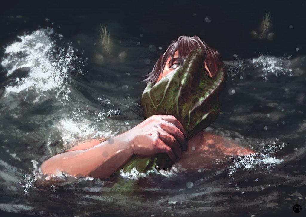 Artwork - Illustration - Es kommt aus der Tiefe