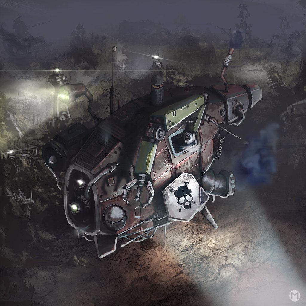 Artwork - Illustration - Spaceship - Scrap Merchant