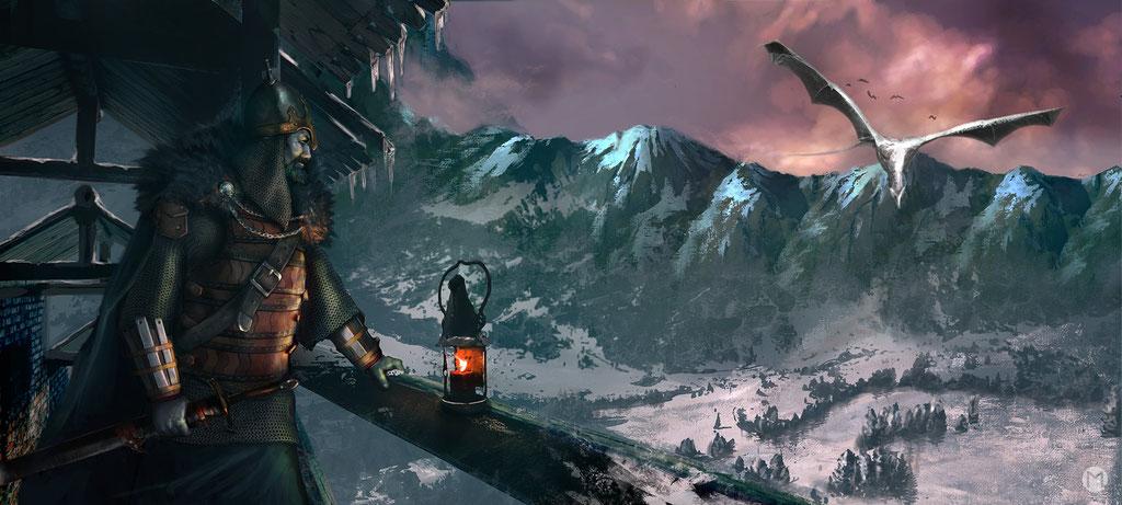 Artwork- Illustration - Dragons' Glen