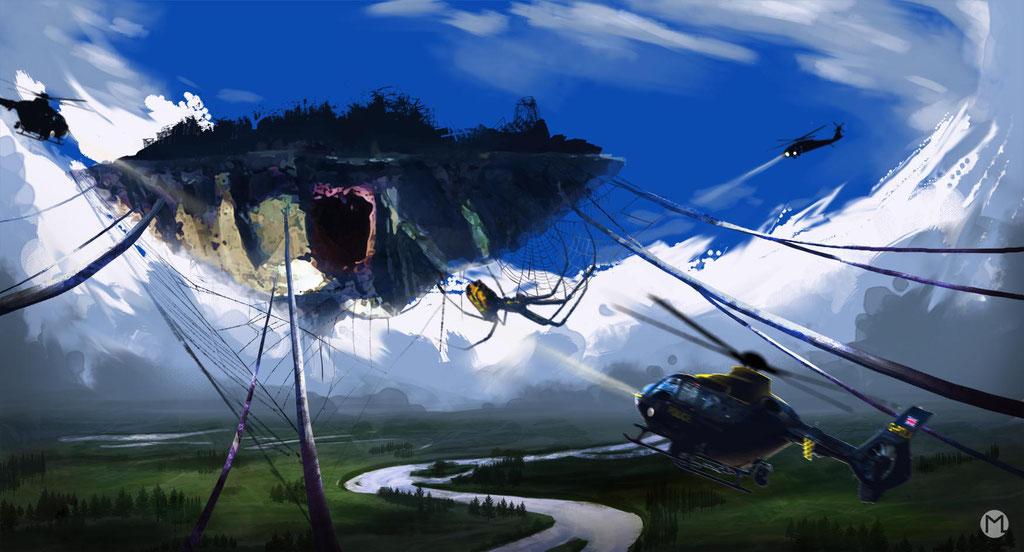 Concept Art - Illustration - Spinneninsel
