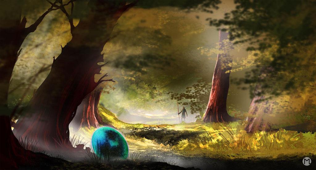 Concept Art - Illustration - Das Ei