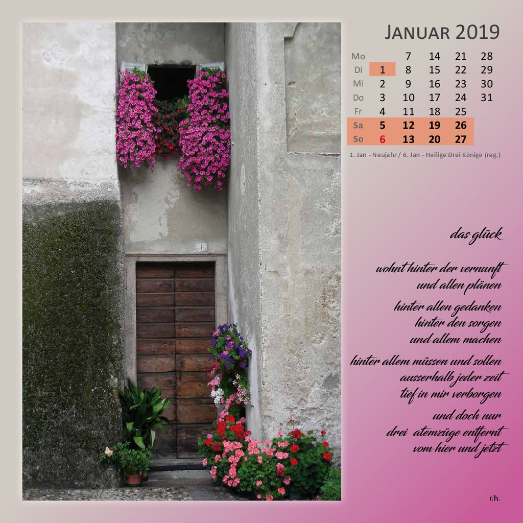 Kalenderformat 30 x 30 - Verdana (Lago Maggiore)