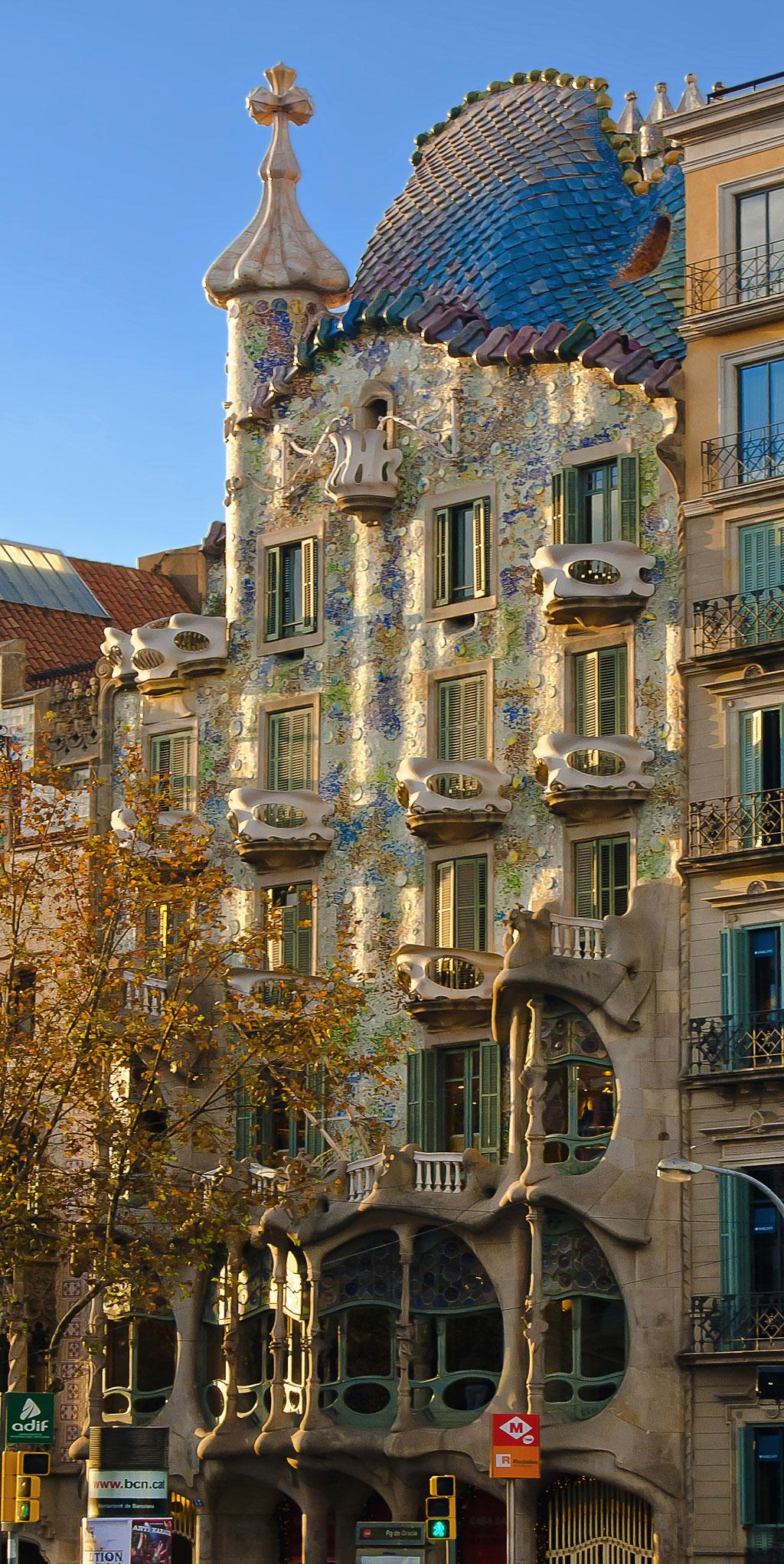 Casa Batllò del gran arquitecto modernista, Antoni Gaudi