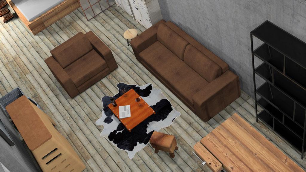 Visualisierung eines Lofts