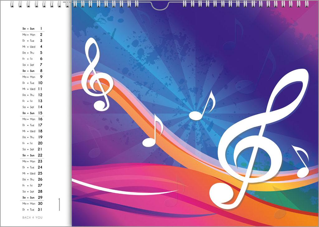Musikkalender, Orgelkalender, Komponisten-Kalender und Musik-Kalender für Kinder … 99 Geschenke für Musiker.