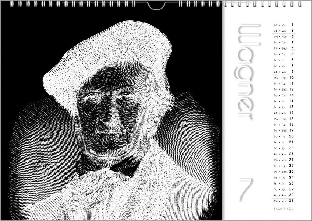 """Komponisten-Kalender, Orgelkalender, Bach-Kalender, Musik-Kalender ... Geschenke für Musiker von """"Bach 4 You""""."""