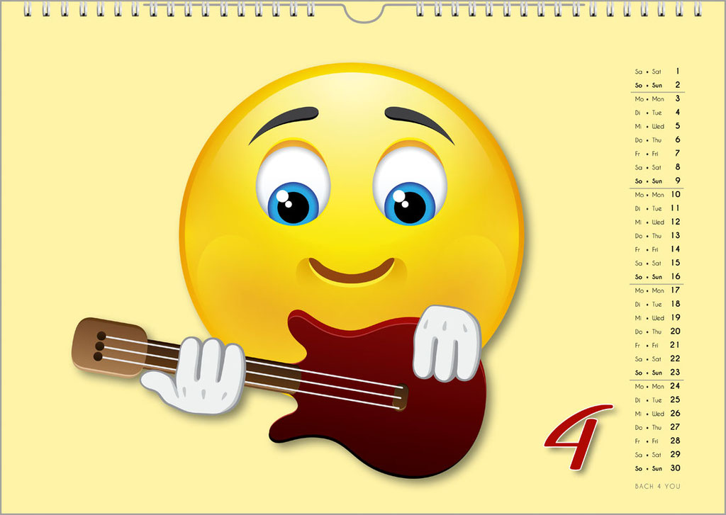 Der Emoji-Kalender: Musikkalender, Orgelkalender, Komponisten-Kalender, Musik-Kalender für Kinder … 99 Geschenke für Musiker.