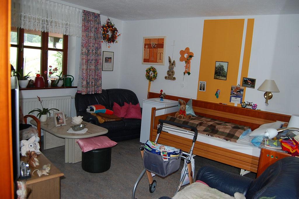 Blick in ein Bewohnerzimmer