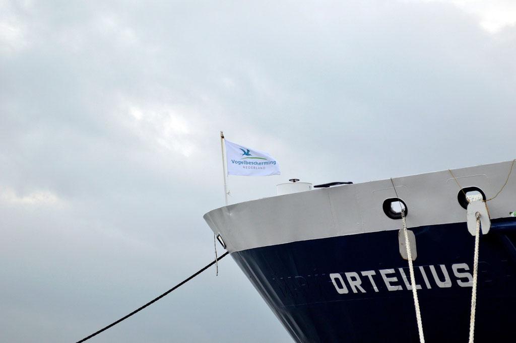 Ons schip de Orterlius m/v, een echt expeditieschip.
