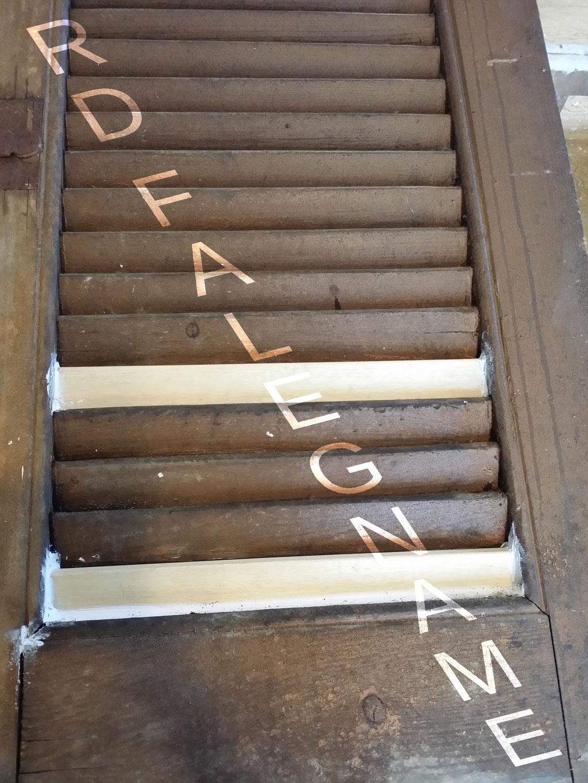 Nuove Stecche in Legno della Persiana Scorrevole